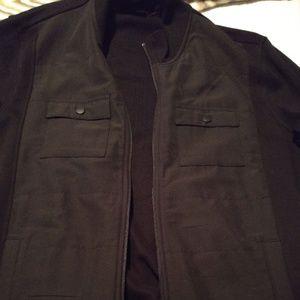 Black Alfini Dress Coat